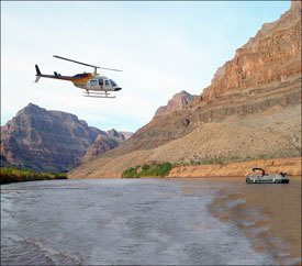 Helicopter over Colorado River